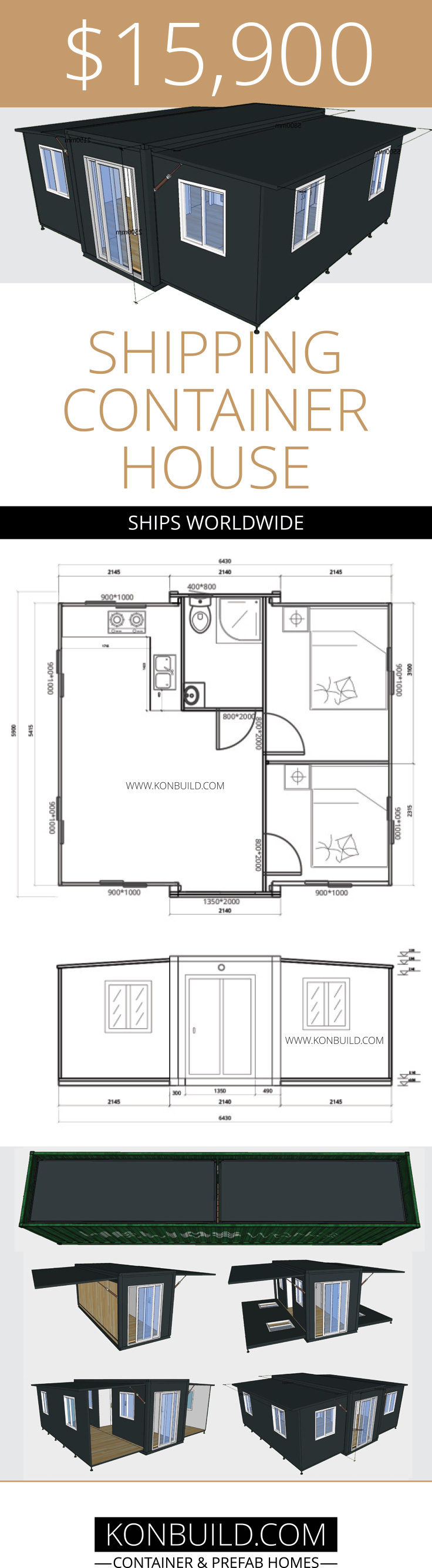 Expandable Container Home [FROM $10 000 ]