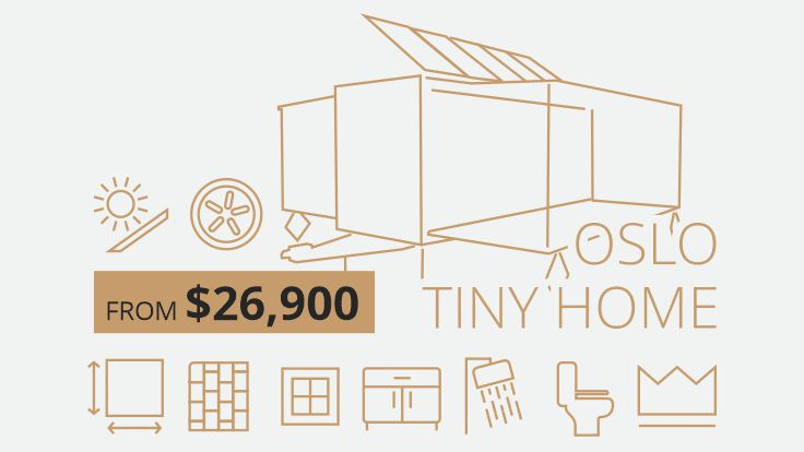 Tiny home manufactured in mainland china for export